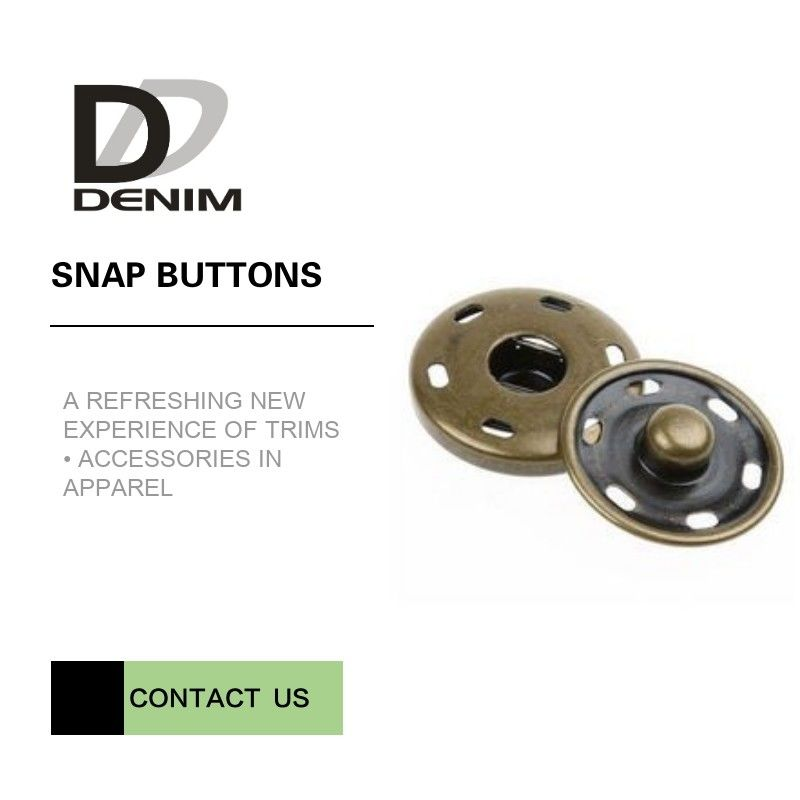 Brass Custom  On Snap Buttons For Overcoat Down Jacket / Cotton - Padded Clothes supplier