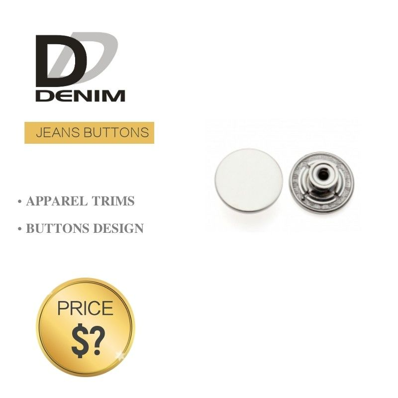 Shiny Silver Denim Metal Buttons Original Designer Button Accessories supplier