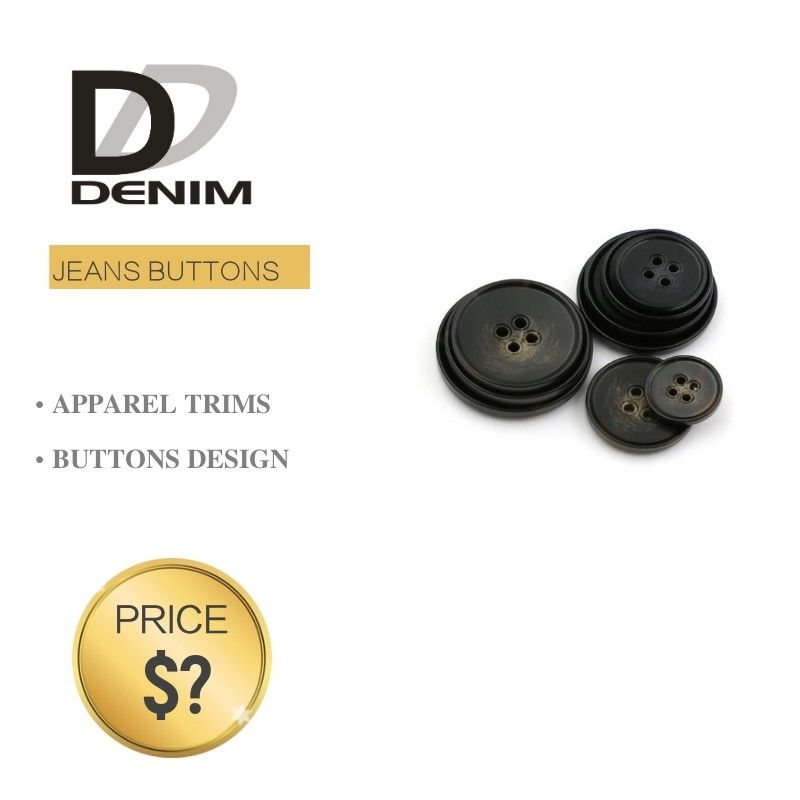 Plastic Blazer Coat Buttons Shiny And Matte Black Color For Garment Factory