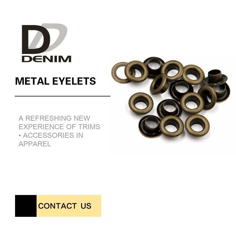 Custom Size Bulk Antique Brass Grommets Eyelets Ring | Metallic Clothing Eyelets 5mm Small Size supplier