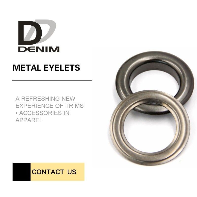 Outdoor Clothing Metal Eyelet Rings Replacement Good Chemical Resistance Large Size