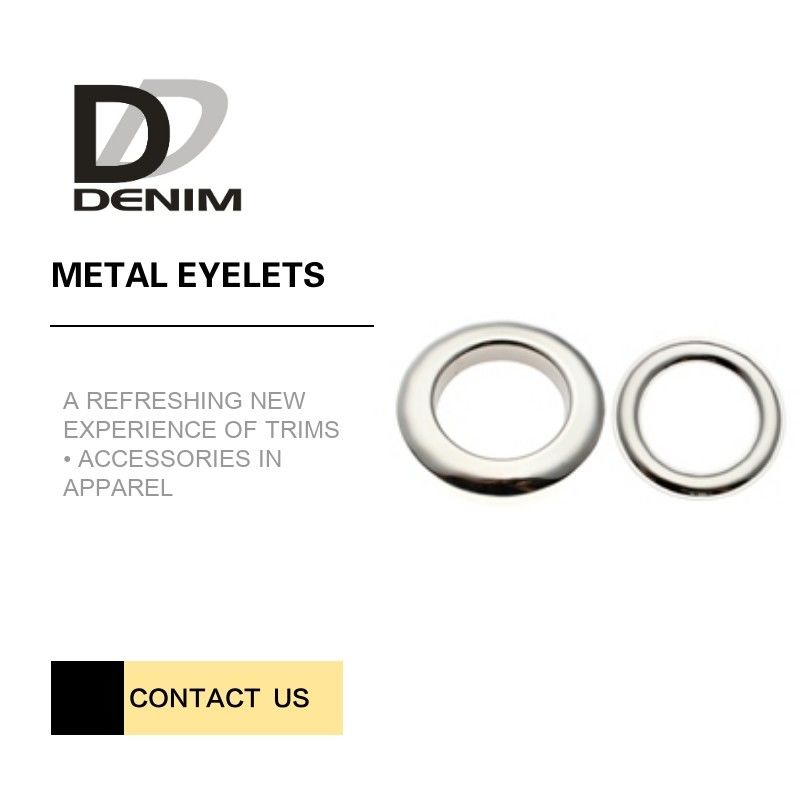 High Durability Metal Eyelet Rings Crack-Proof For Clothings Decoration