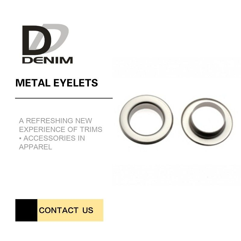 Shiny Silver Metal Eyelet Rings Nickel - Free With Plating Techniques