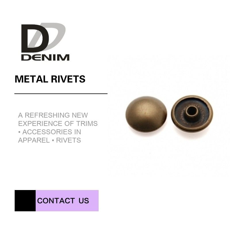 Antique Brass Rivet For Clothing • Clothing Rivets • Decorative Rivets • Garment Rivet  • Mushroom Head Rivet