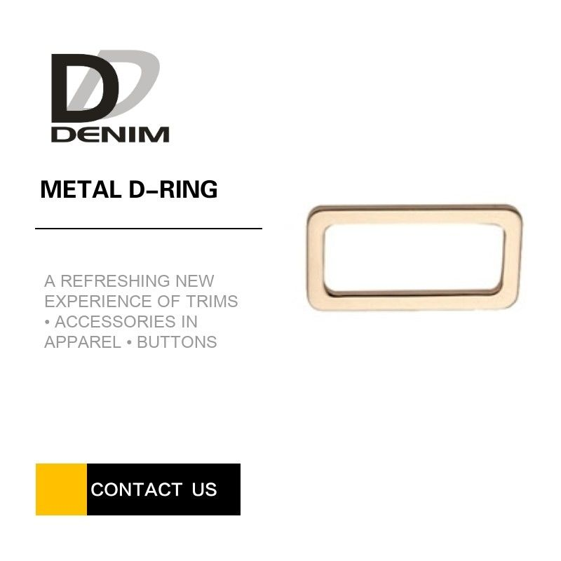 Gold Flat Metal D Ring , Rectangular D Rings Good Chemical Resistance supplier
