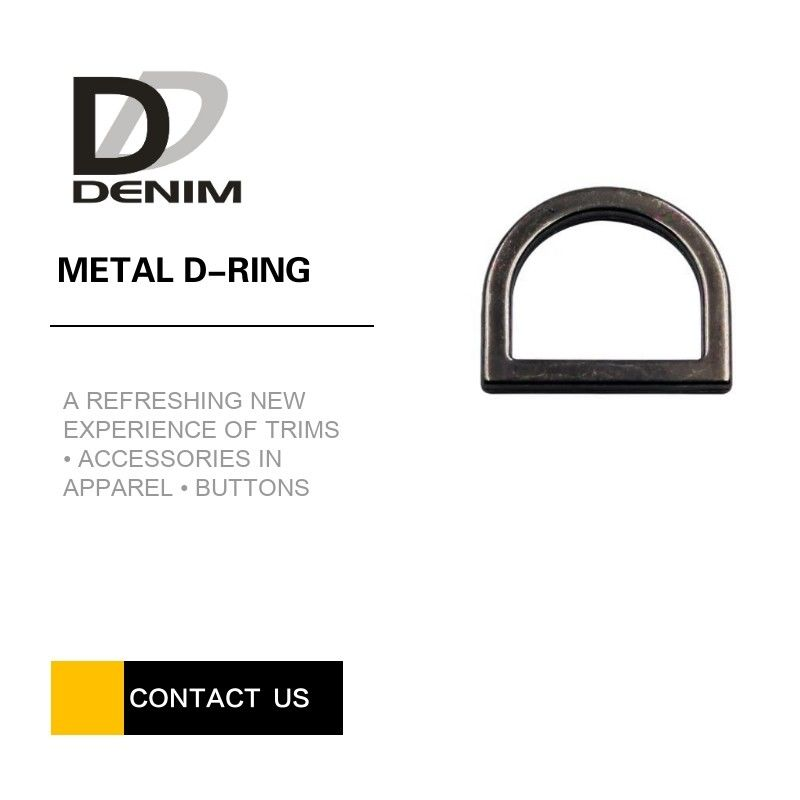 Popular Black Metal D Rings , Rack Plating Custom D Rings For Bag Making supplier
