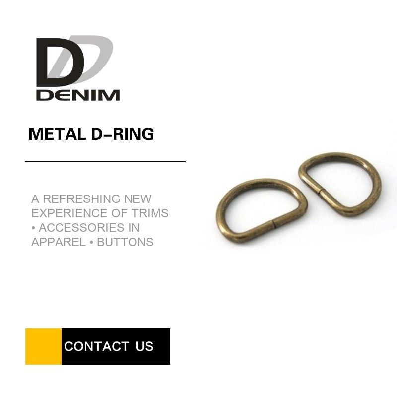 20mm Open Barrel Plating Metal D Ring , Antique Brass D Rings For Lady Handbags supplier