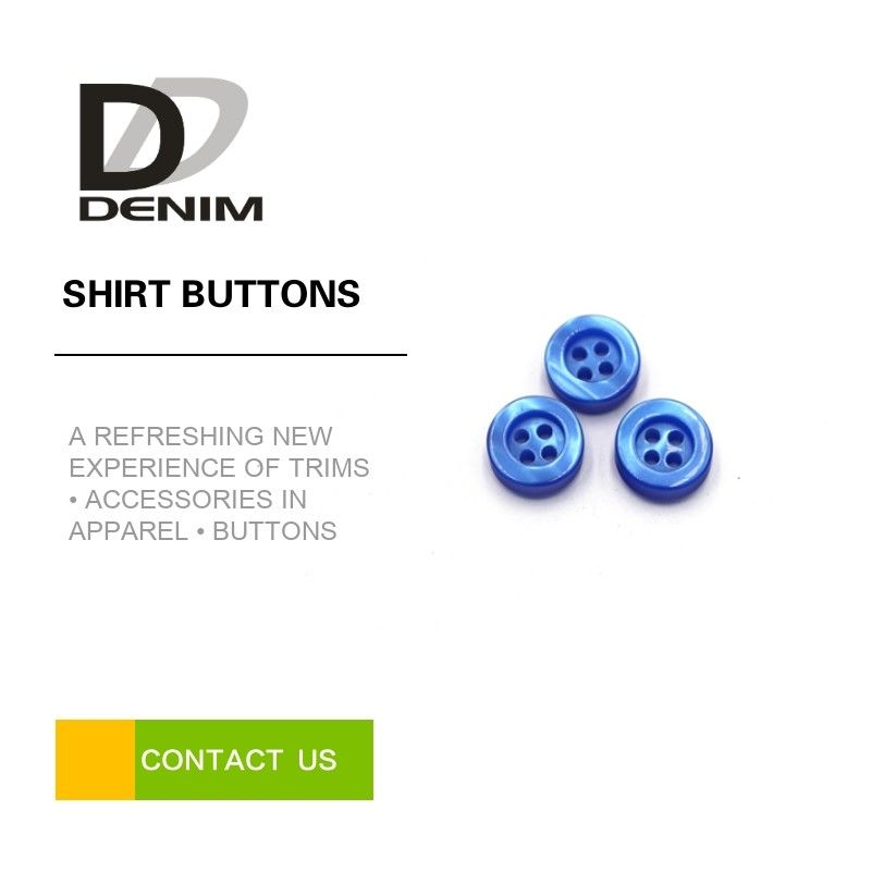 Resin Colorful Dress Shirt Buttons 4 Holes ing Buttons Accessories Bule Plastic Bulk Buttons supplier
