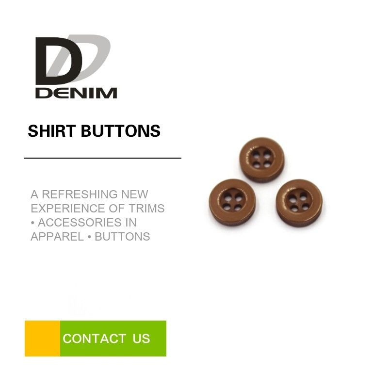 Durable Casual Dress Shirt Buttons Replacement , Resin 4 Hole Button supplier