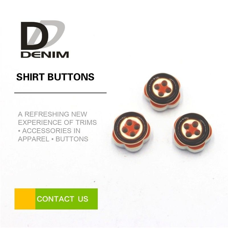 Novelty Dress Shirt Cuff Buttons Orange / Creamy White Color With Popular Design supplier