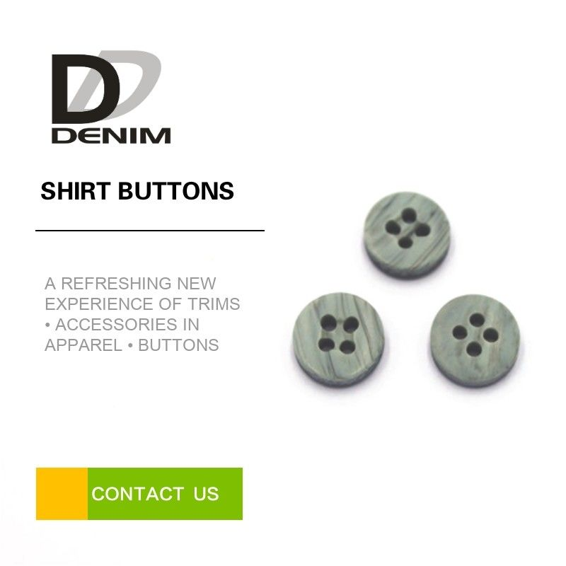 Grey / Smokey Color Dress Shirt Buttons 4 Holes Good Chemical Resistance supplier