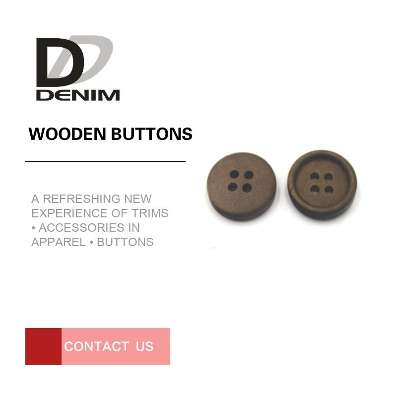 Winter Sweater Coloured Wooden Buttons 12L 14L 16L 18L Good Wear Resistance supplier