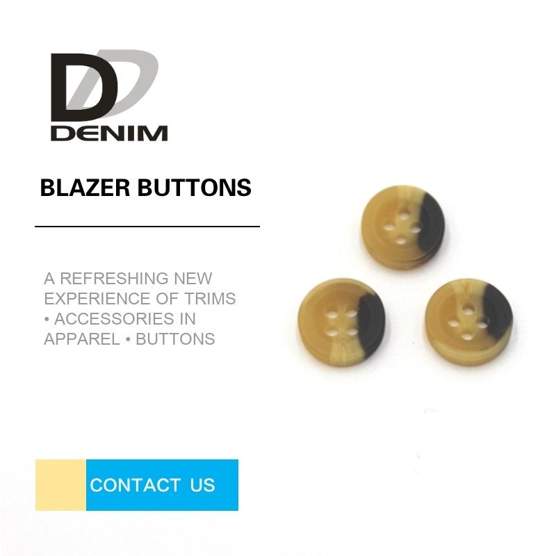 High Durability Navy Blazer Coat Buttons For Single - Breasted Jackets supplier