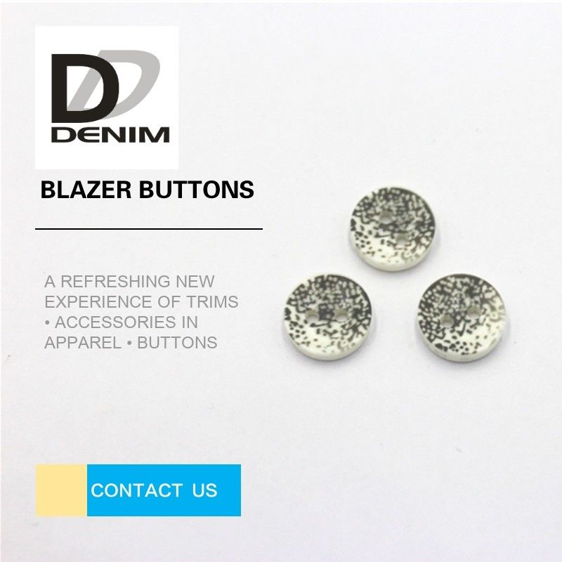 Decorative Gray Novelty ing Buttons , Two Hole Button 20L 24L 26L 28L