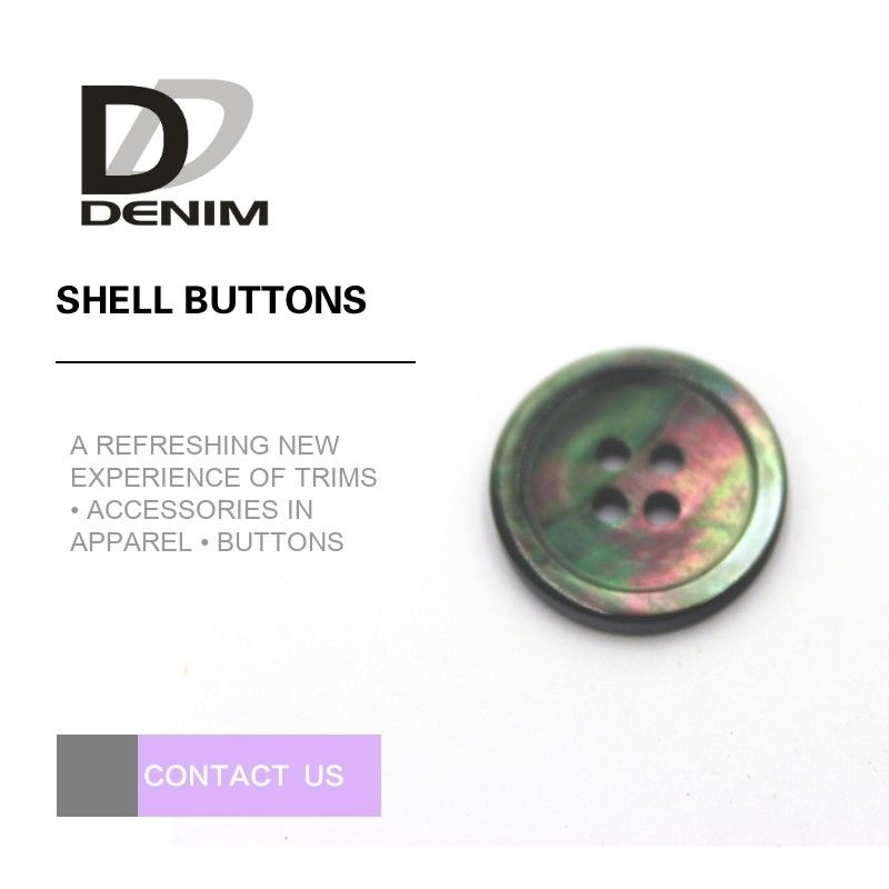Decorative Flat Pearl Shell Buttons With Elegant Texture And Bright Color supplier