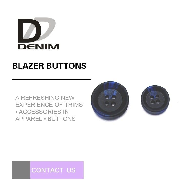 Large Black And Blue Mens Blazer Buttons , Decorative Design 4 Hole Buttons