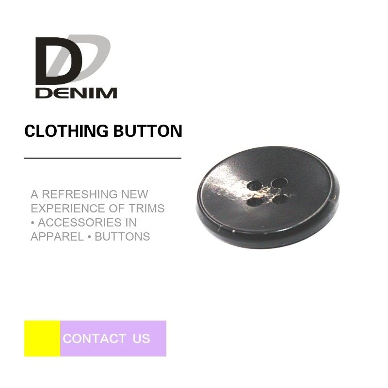 Custom Logo Black ing Buttons 4 Holes For Baby Clothing / Shirt supplier