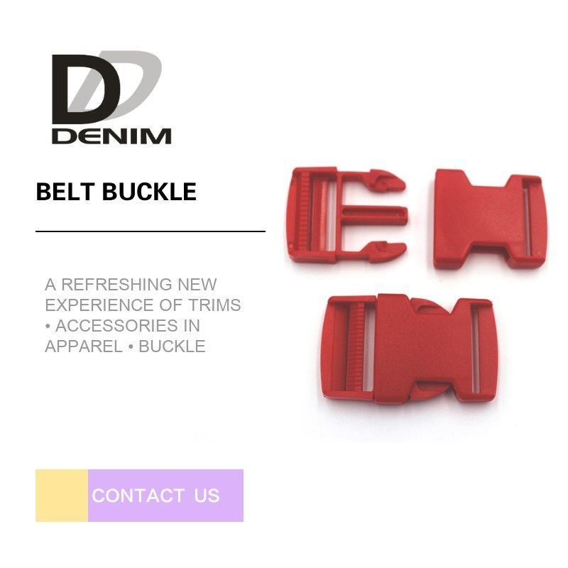 Red DTM Clothing Plastic Belt Buckle Bulk Buttons Fashion Bag Accessories supplier