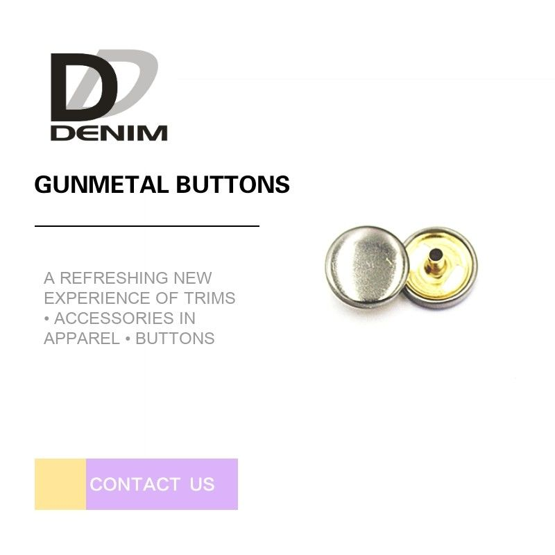 Decorative Gunmetal Shank Buttons Personalized Logo For Jeans Accessories supplier