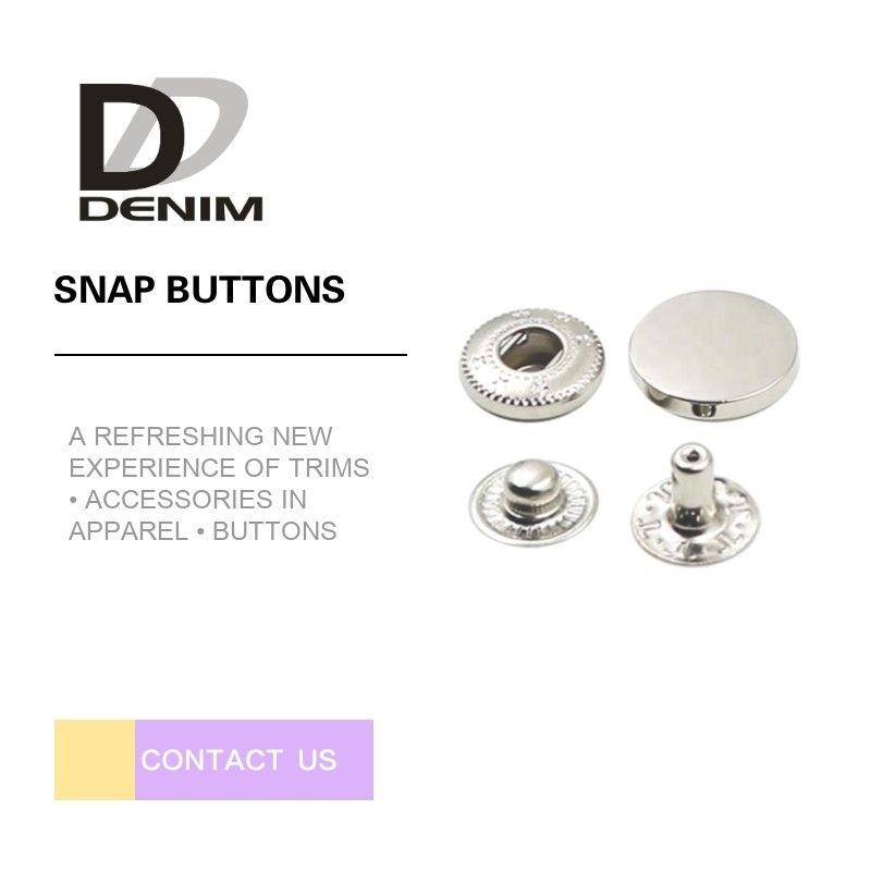 Custom Made Silver Snap Buttons , Hidden Snap Buttons For Leather Jacket supplier
