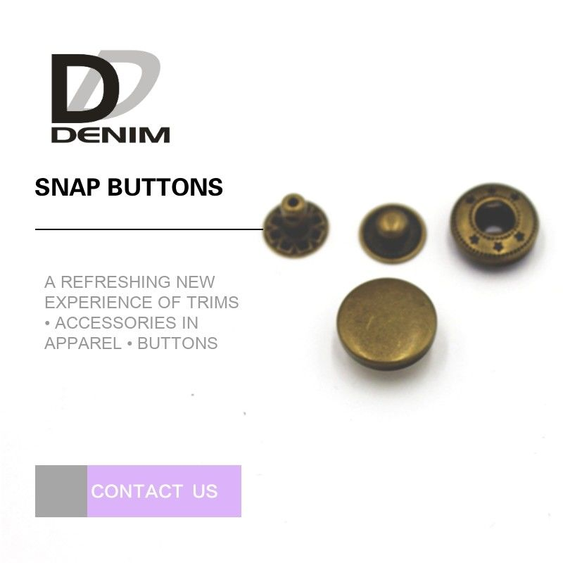 16L Bulk Brass Snap Buttons Nickel Free Lead Free With DTM Color Design supplier