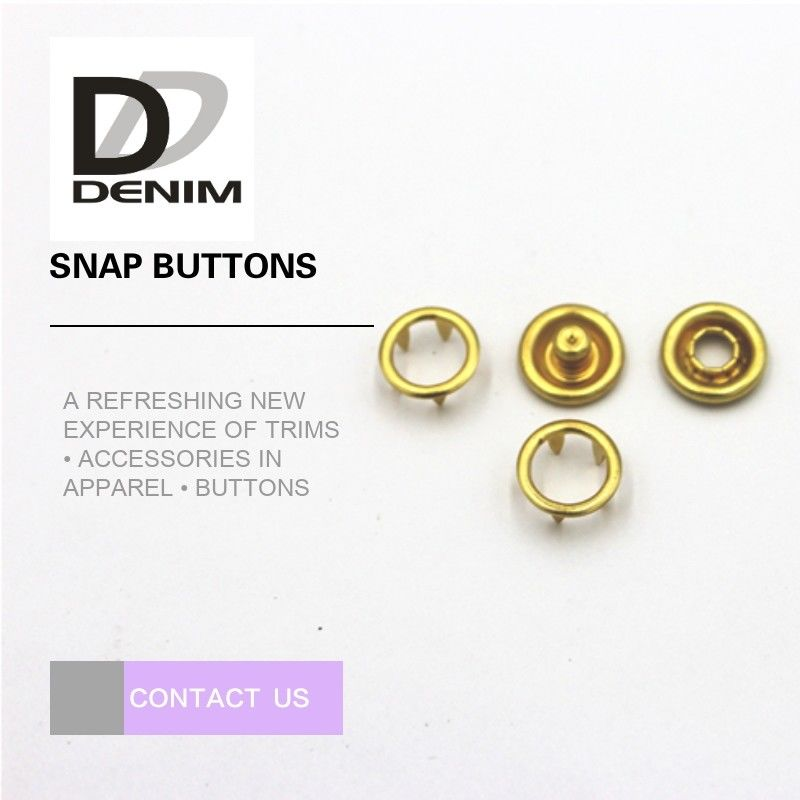 Fancy Gold Brass Bulk Clothing Buttons , 16L Prong Snap Buttons For Clothing supplier