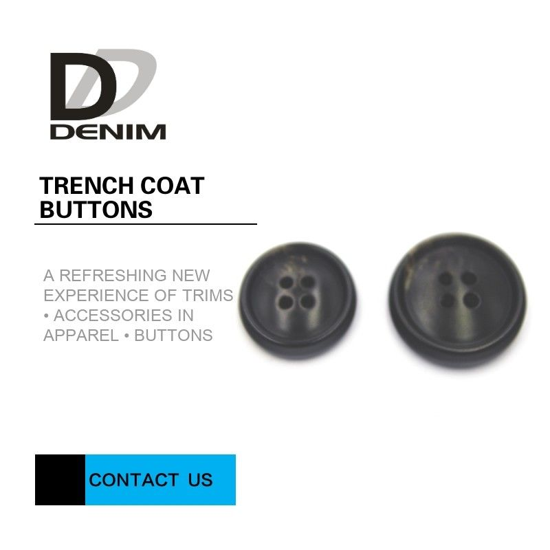 4 Hole Resin Trench Coat Buttons Delicate And Smooth Lines ISO 9001 Approved supplier