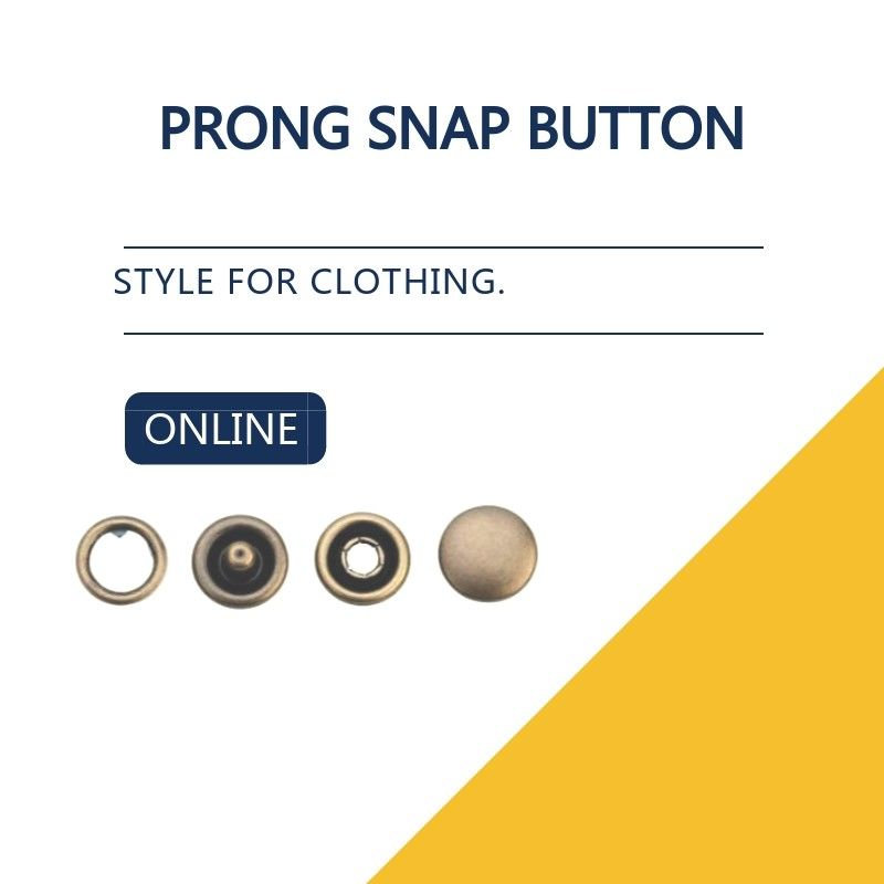 Capped Prong Snap Button For Denim Shirts & Blouses , Brass Engraved Bulk Buttons supplier