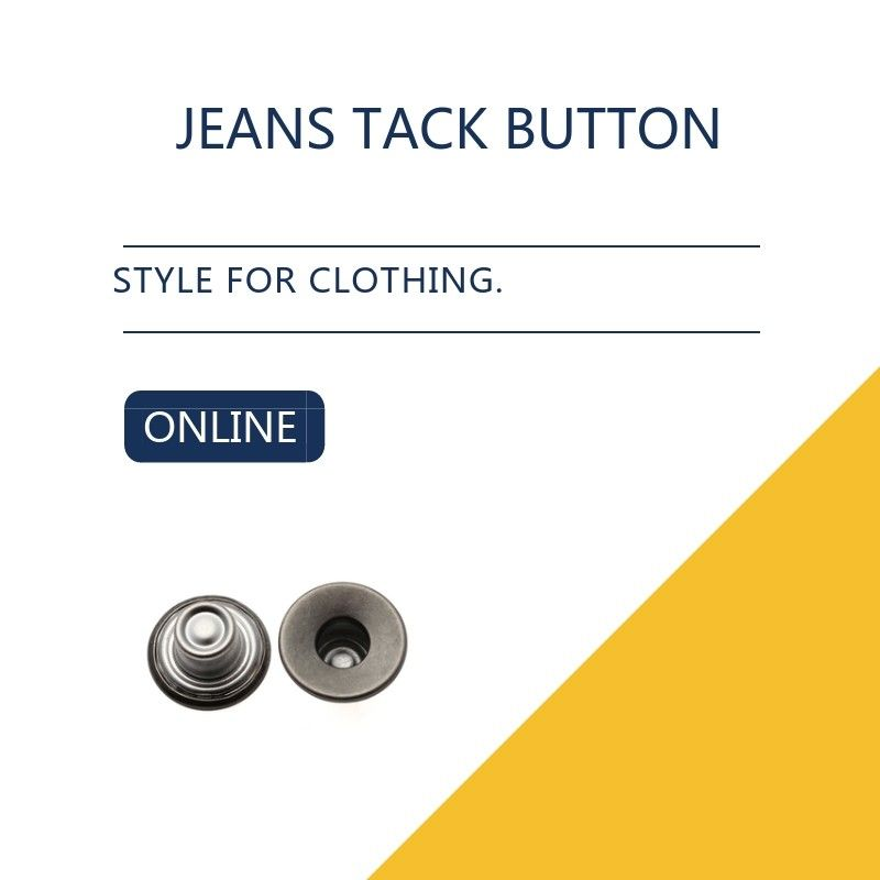 Black Antique Silver Custom Jeans Tack Button Leather Clothing Bulk Trims