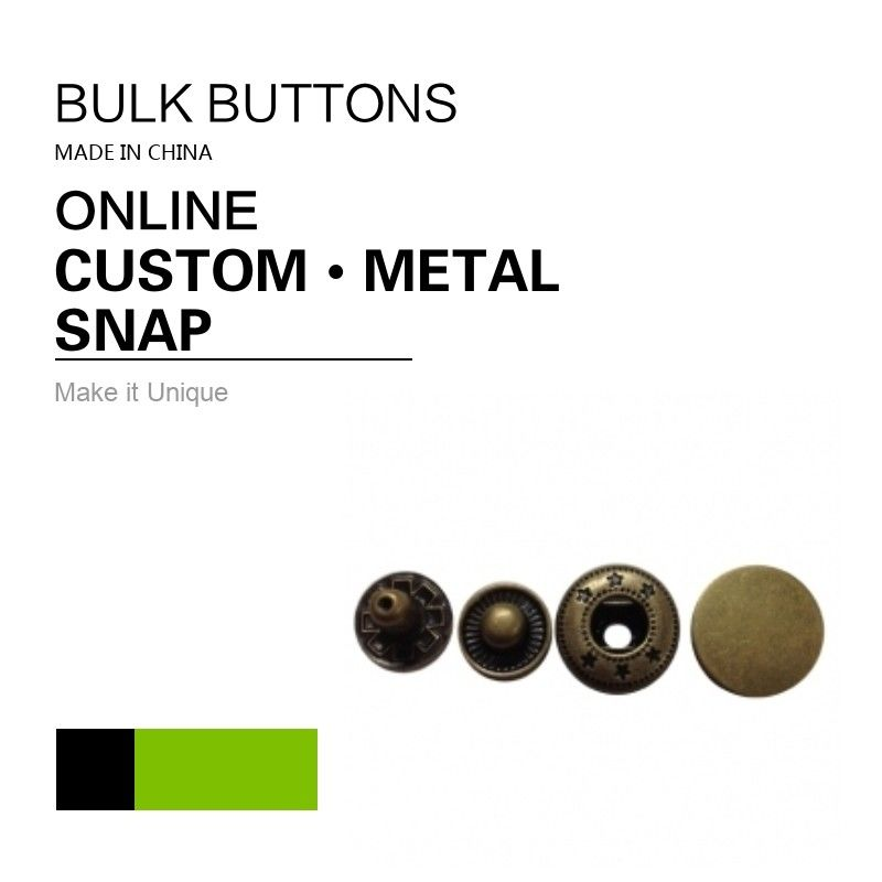 Custom Sew On Snaps / Metal Color 4 Parts Snap Button Fasteners supplier
