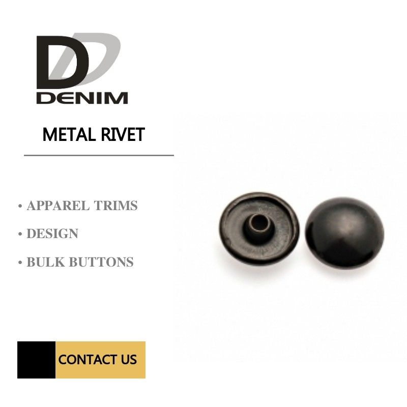 Dark Antique Sliver Gun Metal Rivets For Outerwear , Denim Jacket