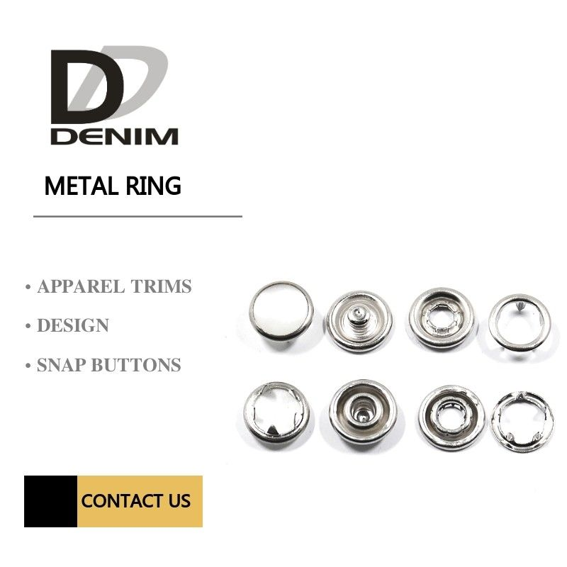 Pearl Metal Clothing Buttons , Small Prong Type Snap Button Size Customized supplier