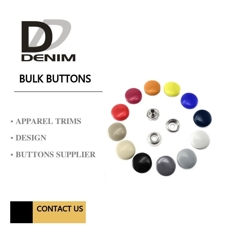 Metal Shiny Lacquer Buttons And Snaps 4 Parts Painted Color DTM Fabric supplier
