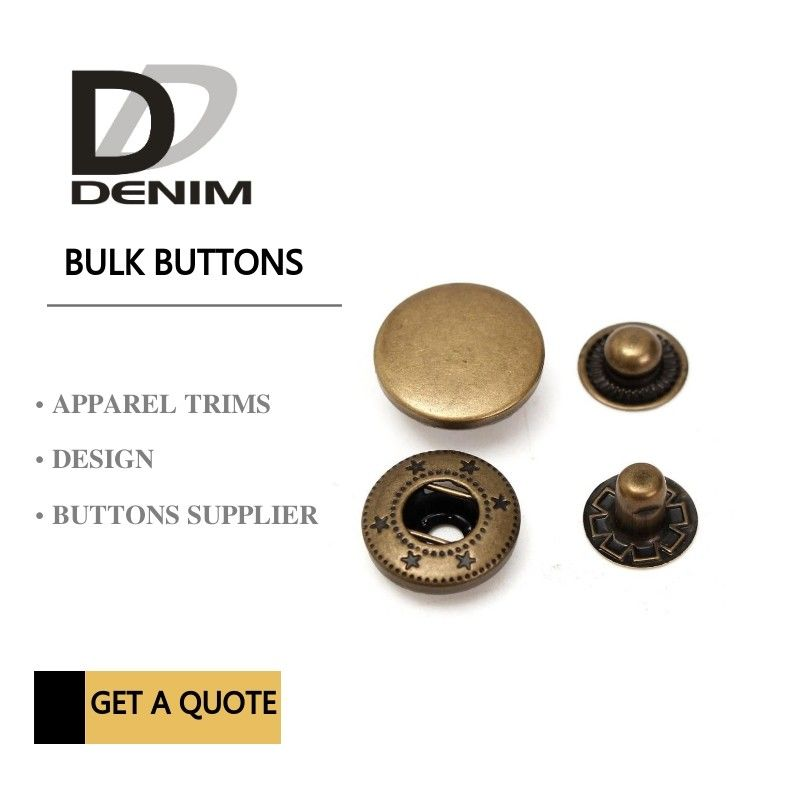 Anti Brass Spring Snap Socket Buttons 4 - Parts For Jacket Bulk Trims Available Sizes supplier