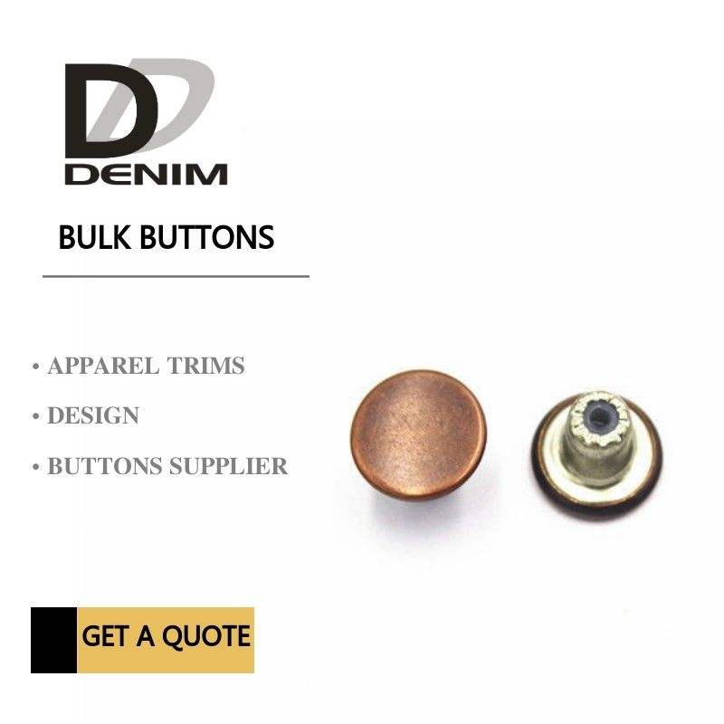 Customize Decorative Brass Jeans Fasteners Metal Clothing Buttons Brand Style Design supplier