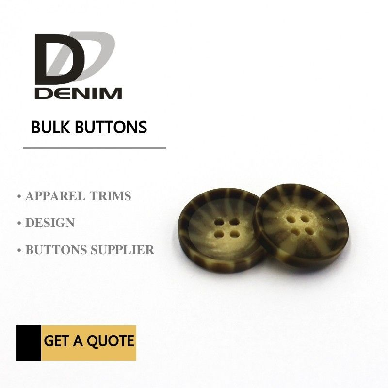 Decorative Polyester Bulk Clothing Buttons Large Size buttons supplier
