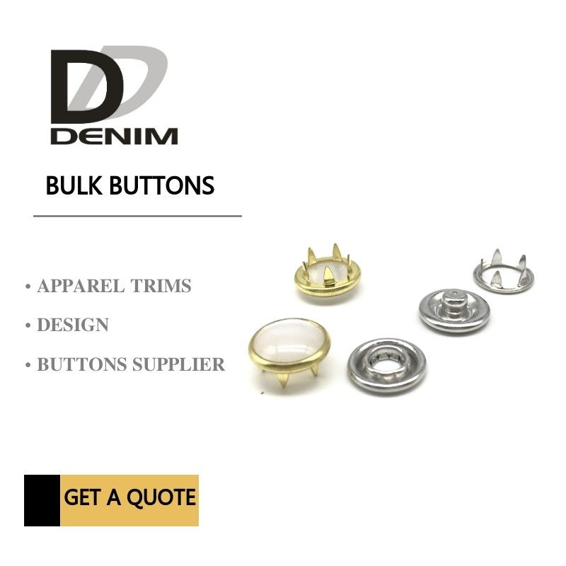 Gold Color Bulk Clothing Pearl Prong Snap Buttons Fasteners Nickel-Free supplier