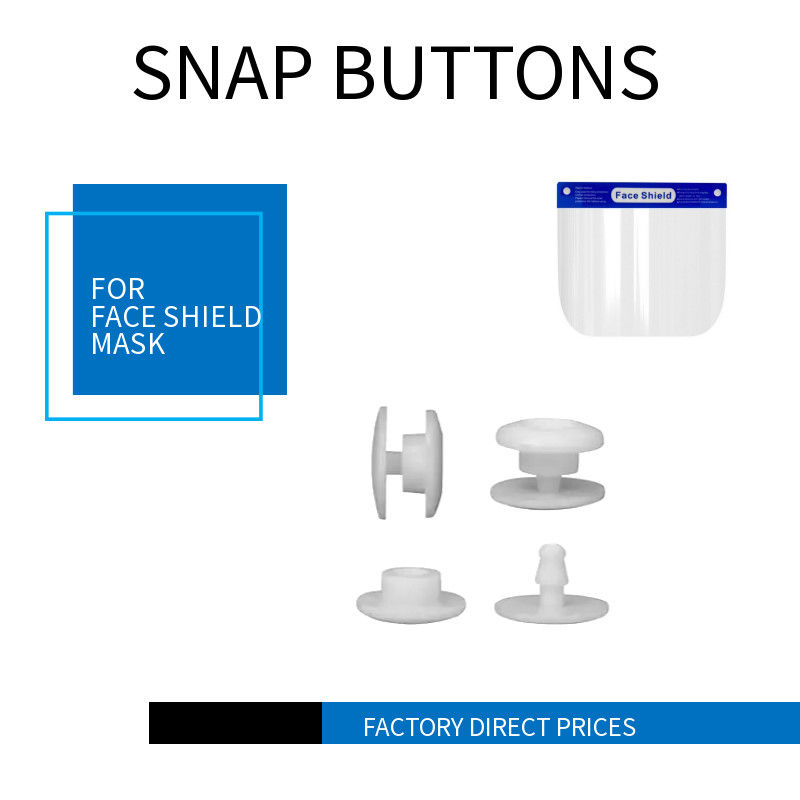 10mm Plastic Snap Button For Protection Face Shield Two Parts One Time Using