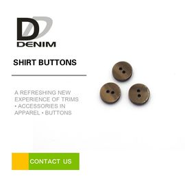 China Fancy Brown Custom Made Shirt Buttons 12L 14L 16L 18L 20L With LOGO Engraved factory