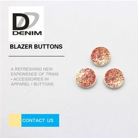 China Fancy Orange Blazer Coat Buttons , Bulk Custom Buttons Nickel Free Lead Free factory