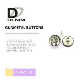 China 15MM Gunmetal Shank Buttons Customized Logo Good Wear Resistance Bulk Trims factory