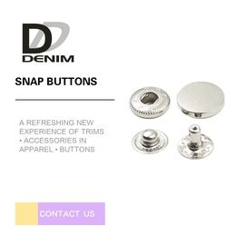 China Custom Made Silver Snap Buttons , Hidden Snap Buttons For Leather Jacket factory