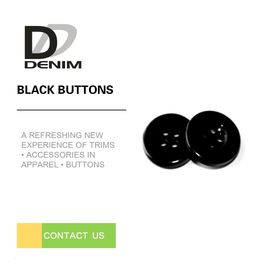 China Large Plastic RESIN Decorative Black Buttons 16L-32L Size With Logo Engraved factory