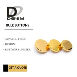 China Decorative High Grade Blazer Coat Buttons , Gold Color Bulk Metal Skirt Buttons factory
