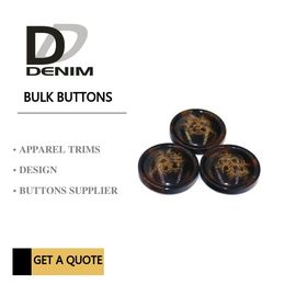 China Trim & Polyester Large Coat Buttons , Sourcing Unique Buttons For Clothing factory