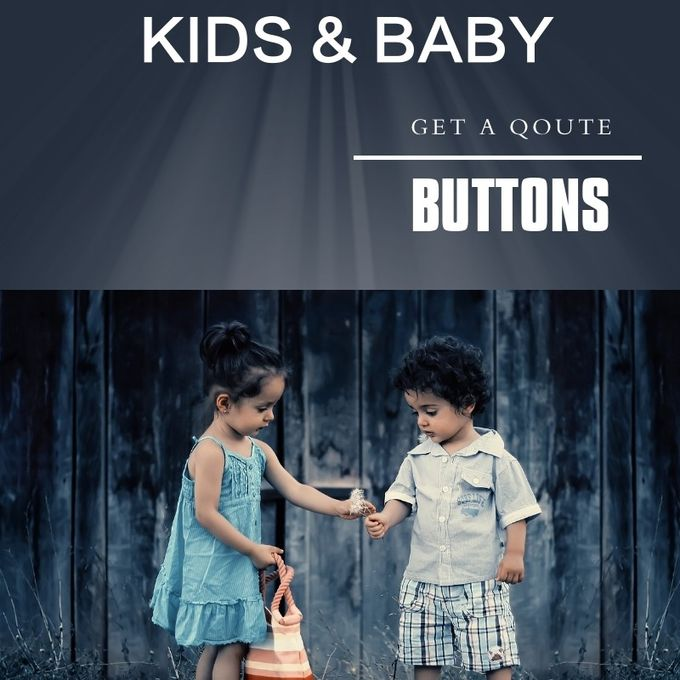 Baby & Kids Bulk Buttons : Fabric Buttons Prong Snap Buttons Four parts
